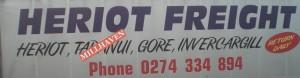 Heriot Freight Sponsor